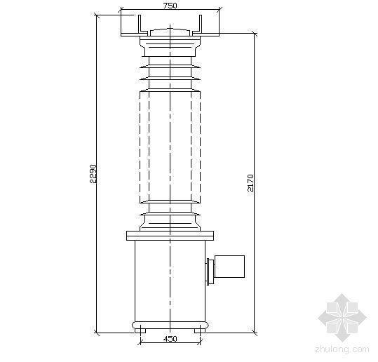 SVS123型SF6气体电压互感器外形尺寸图