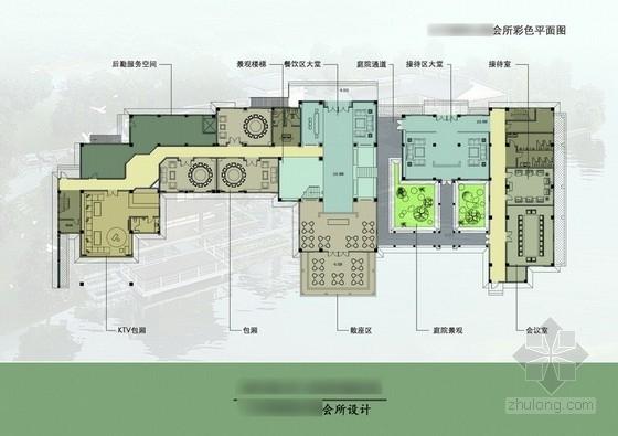 [毕业设计]某中式风格会所室内设计方案图