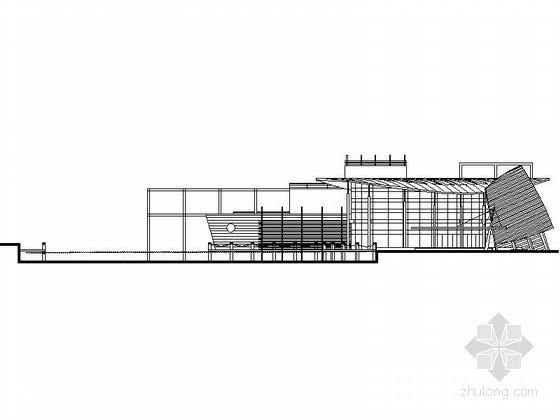 某二层现代型会所建筑方案图