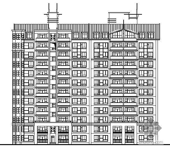 珠海某大院十二层建筑施工图