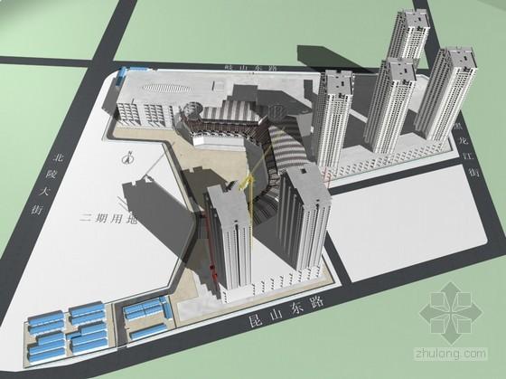 [辽宁]框剪结构超高层综合建筑群投标施工组织设计(313页,技术标,附图丰富)