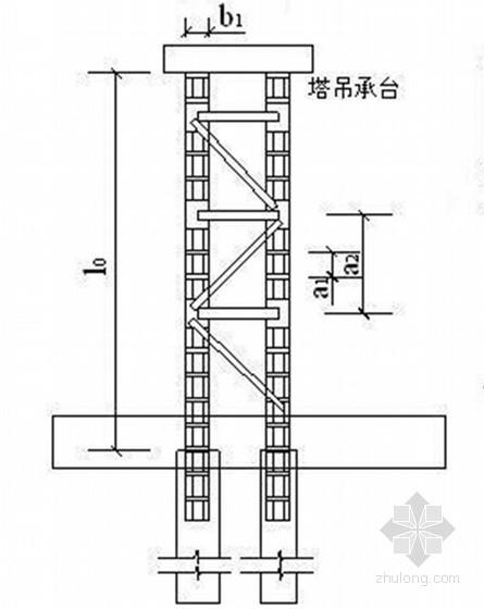 [浙江]钢格构柱式塔式起重机基础方案(QTZ63型 计算书)