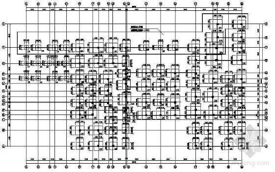 某带转换的异形柱框架商住楼结构图纸