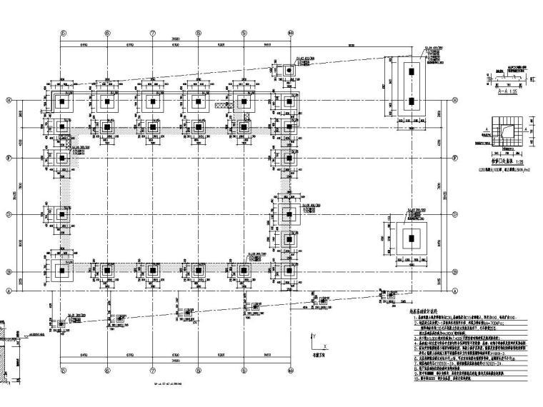 [山东]地上两层框架结构体育馆结构施工图