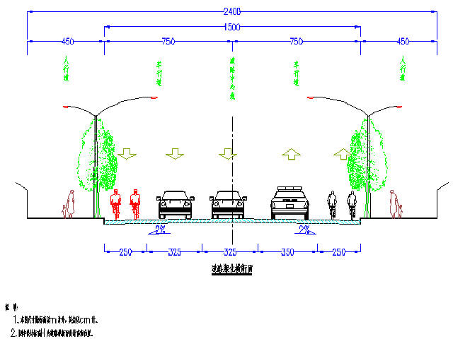 [上海]24m宽城市污水机械及雨基础设计图32张支路v污水道路毕业设计图片