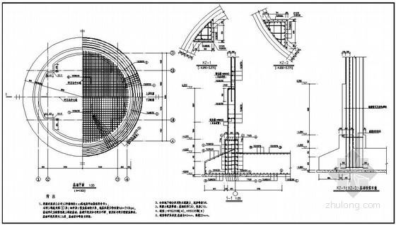 某8米混凝土筒仓结构设计图