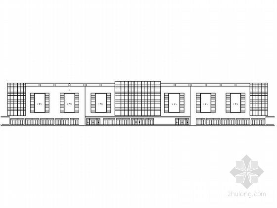 [山东]4层现代风格商业广场建筑设计施工图(图纸详细推荐下载)