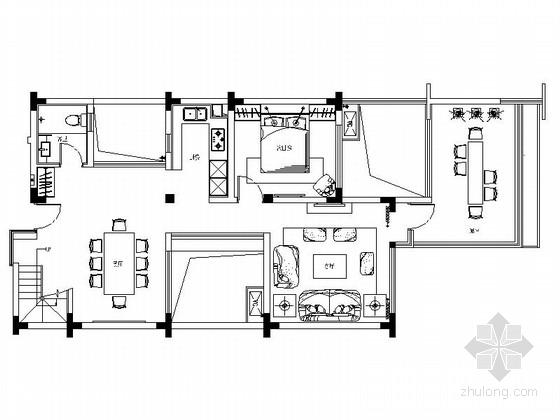 [成都]现代中式禅味风格双层别墅室内设计装修图