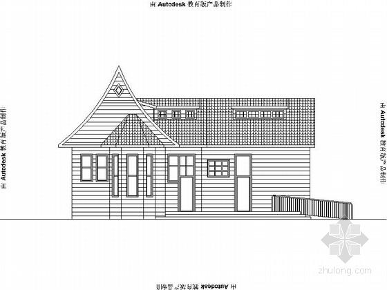 [青岛]小型现代公厕建筑施工图