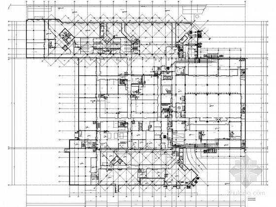 [海南]国际旅游度假区别墅度假酒店给排水施工图纸(气体灭火、温泉水系统)