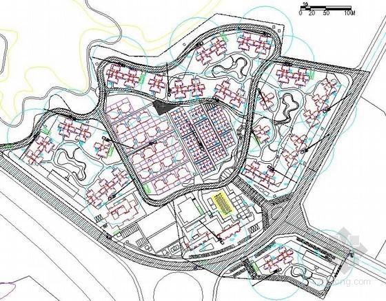 [福建]住宅商业圈施工现场总平面布置图