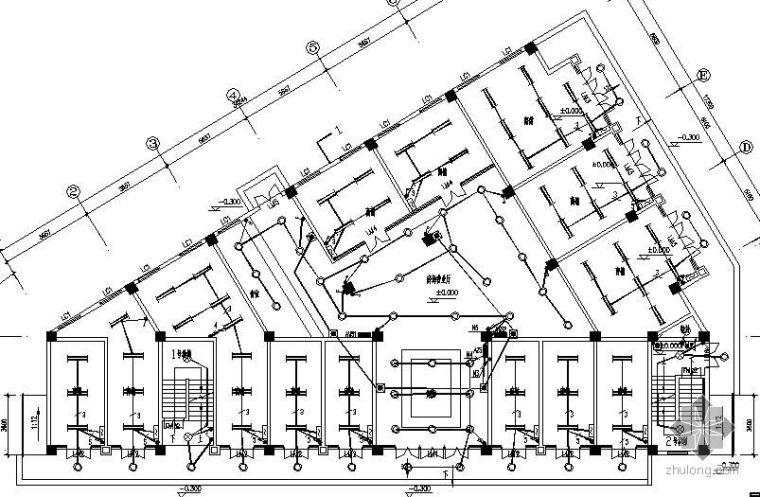 西安某五层办公综合楼电气图纸