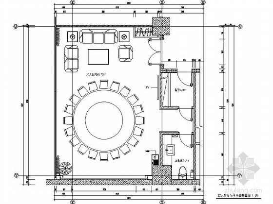 现代办公楼餐厅大包间装修图(含效果)