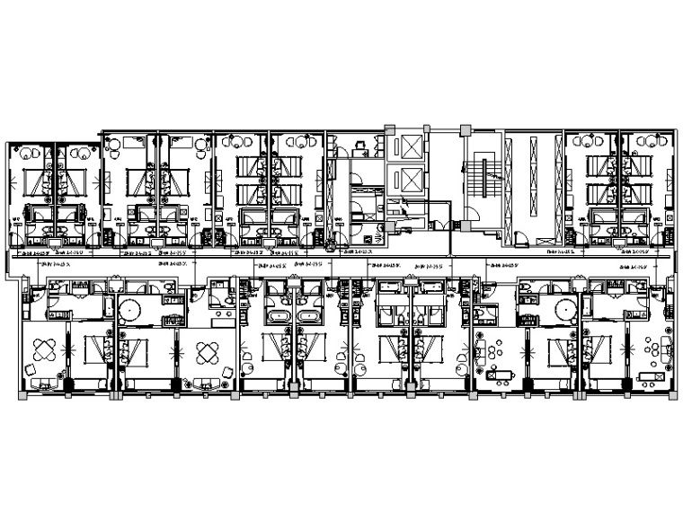 潮流酒店设计手册施工图纸(装饰、水电)