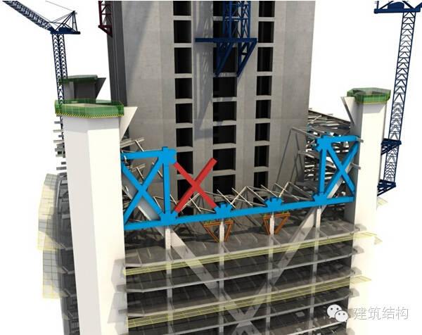 建筑结构丨超高层建筑钢结构施工流程三维效果图_5