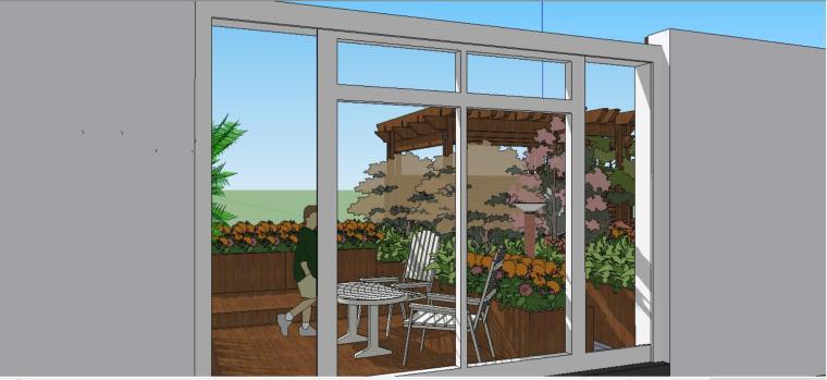 廊•花架,精致庭院su模型设计