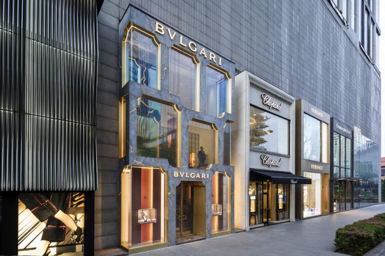 吉隆坡宝格丽光纹立面的旗舰店