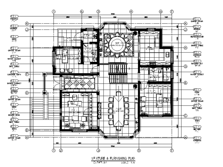 安徽施工图设计资料下载-[安徽]现代别墅设计CAD施工图(含效果图)