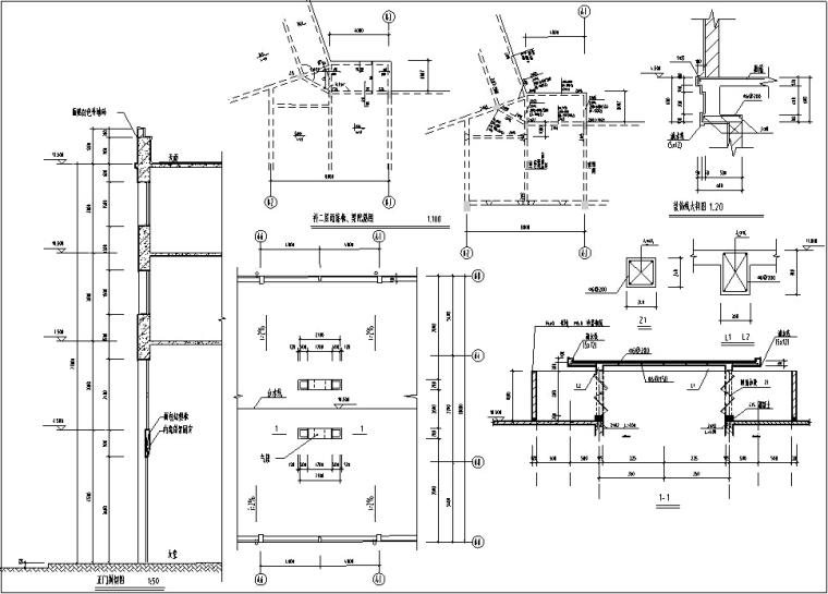 5套现代多层宾馆酒店建筑设计施工图CAD-豪泉多层酒店建筑设计构造图