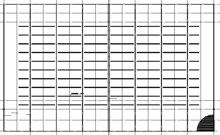 钢铁物流门式刚架仓储施工图(CAD,4张)