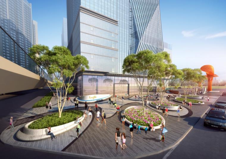 [四川]龙湖紫宸商业项目景观设计方案 A-6 自持办公楼