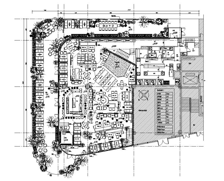 珠海胡桃里音乐餐厅效果图+软装+施工图CAD+PDF