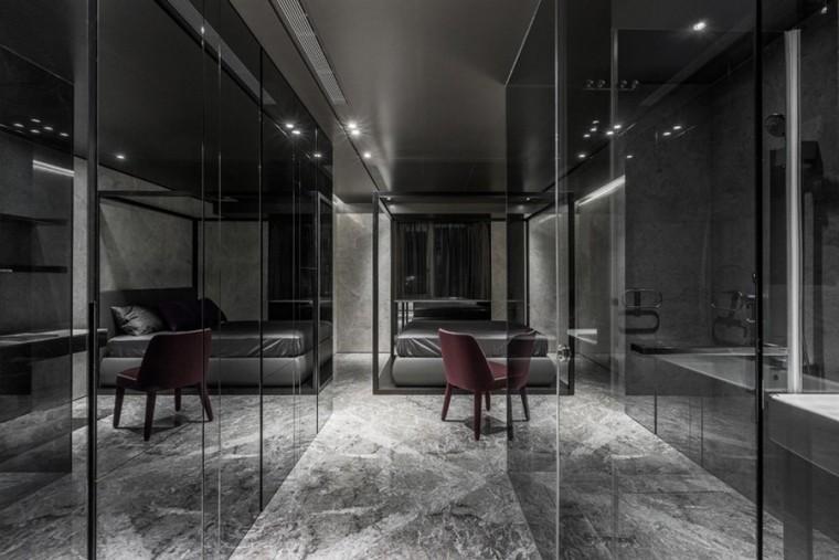 台北黑色调的公寓_9