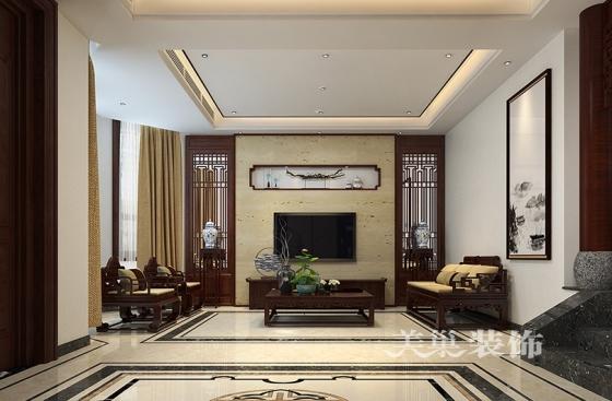 园300平别墅新中式风格装修效果图