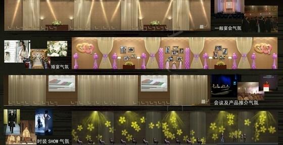 [深圳]全资跨地域国际化现代酒店设计方案图多功能厅立面图