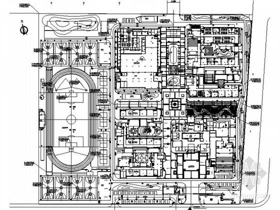 [江苏]中学校园教育机构景观设计施工图