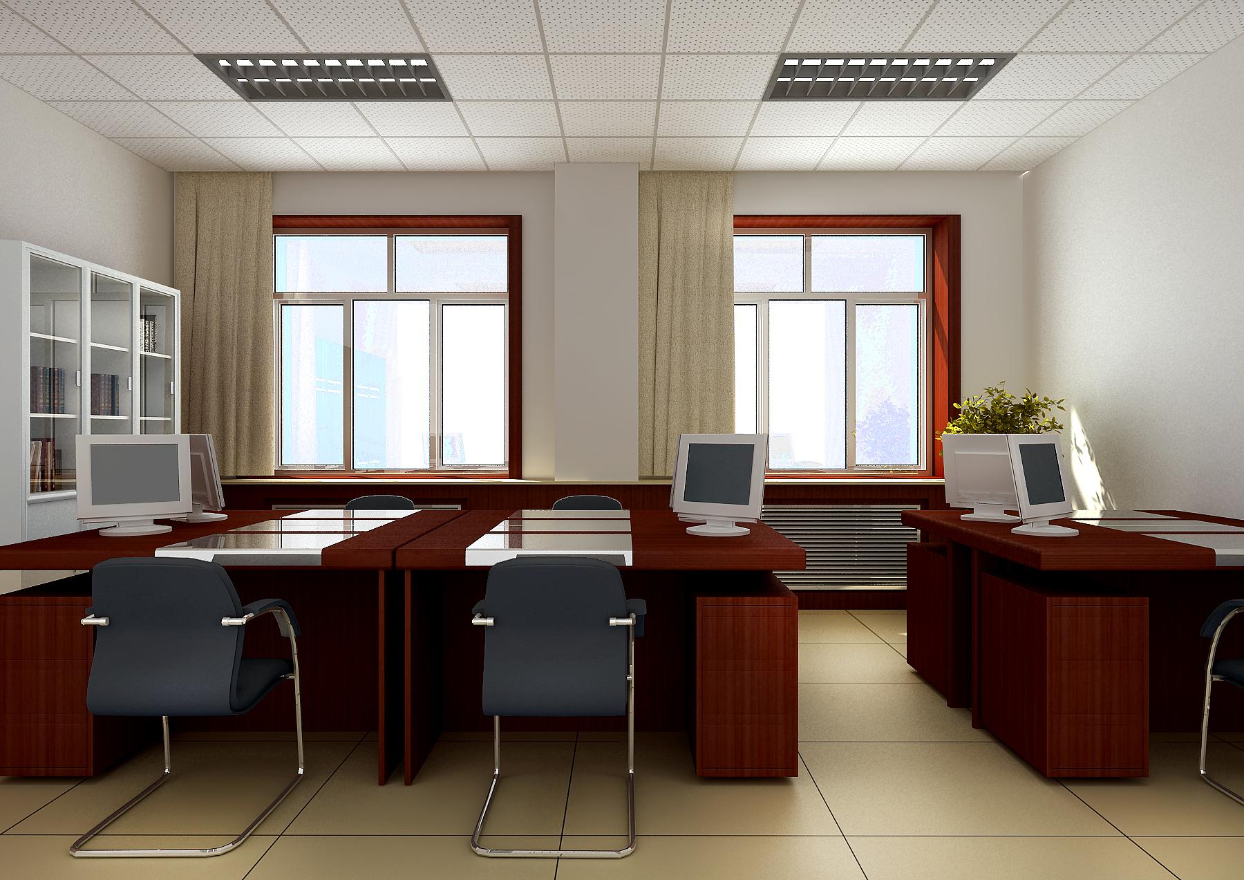 人民銀行辦公樓全套設計方案3D/CAD