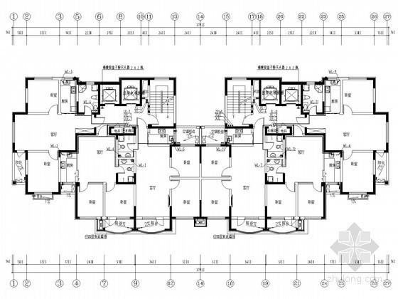 高层底商住宅楼给排水消防施工图