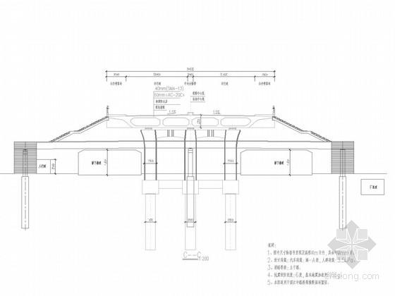 [浙江]双控预应力六联梁高2.2m单箱多室预应力箱梁高架桥设计图纸244张