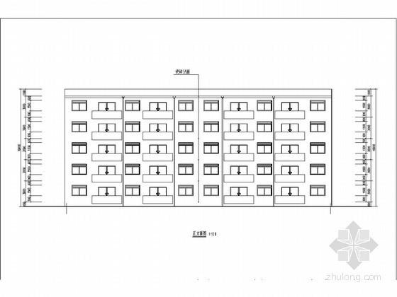 [学士]五层框架结构住宅楼结构施工图(含建筑图计算书)