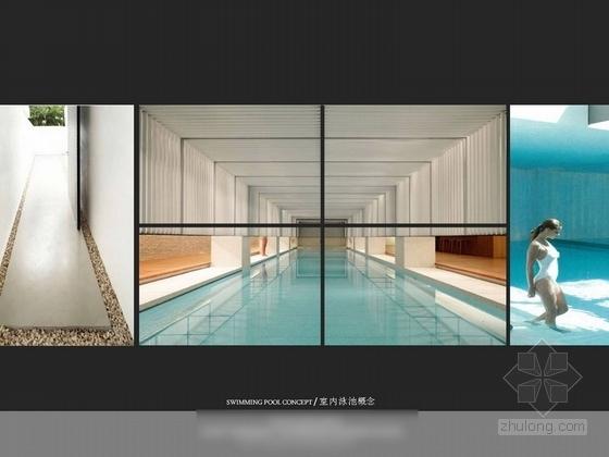 [深圳]某五星级机场酒店室内设计方案图 泳池概念