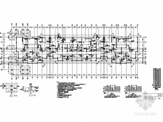 [住宅楼]18层框架剪力墙结构施工图(地下一层、筏板基础)