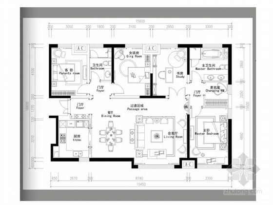 [天津]欧式文化品质感样板间概念设计方案(含效果图)