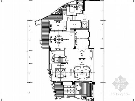 [深圳]中式混搭风三层别墅室内装修施工图(含实景)