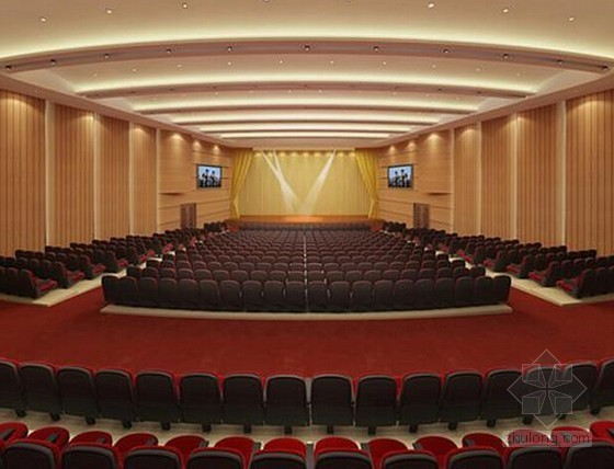[深圳]2015年学校礼堂室内装饰工程量计算及预算书(含施工图清华斯维尔)