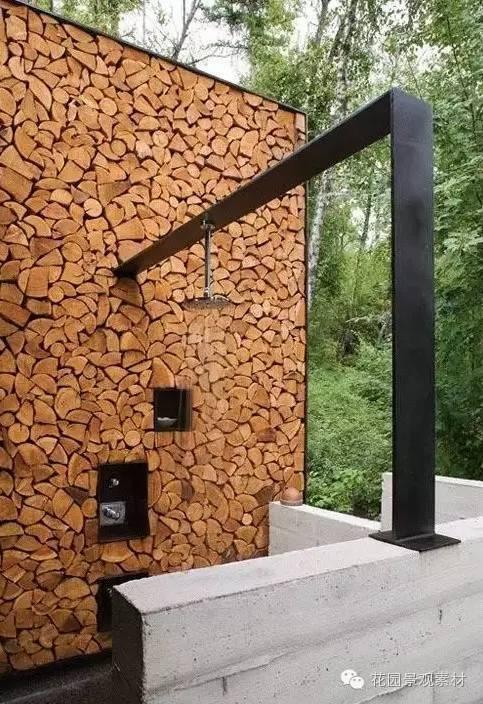 木和砖造景的美_1