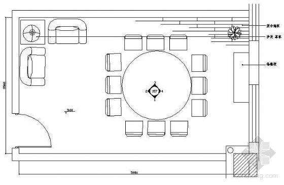 餐厅包房平面布置图6