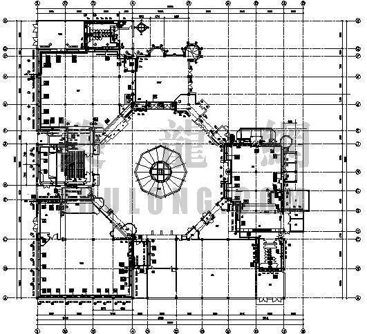 大连市某主题公园游戏大厅采暖设计图纸
