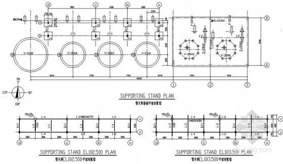 [中英]钢结构化工平台结构施工图