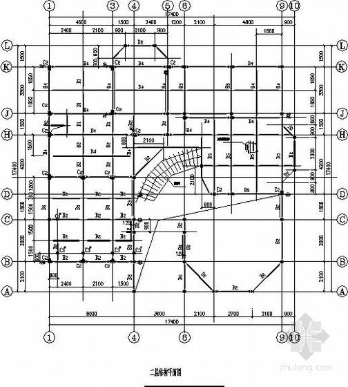 三层轻钢别墅结构施工图(坡屋顶 弧形楼梯)