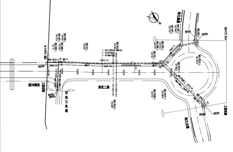 [海南]成片岛屿市政工程给排水施工图