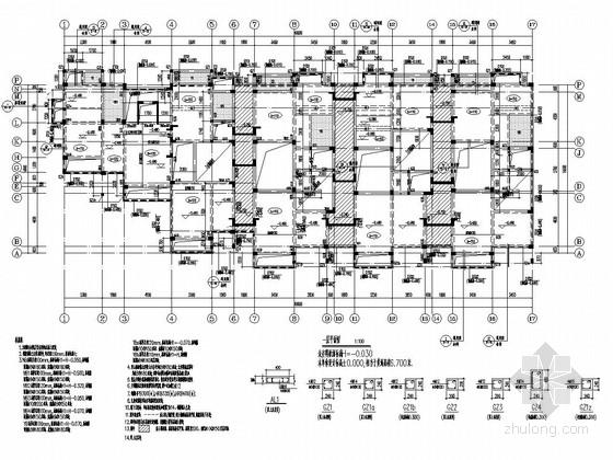 [浙江]地上三层框架结构普通住宅楼结构施工图