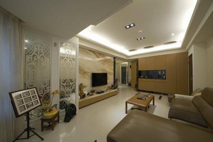 148.5平两室两厅现代风格客厅装修效果图