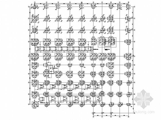 [杭州]四层框架结构电光纤厂房结构施工图(含吊轨)