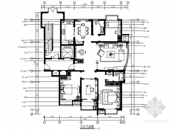[山东]欧式温馨三居室家装施工图(含实景照片)