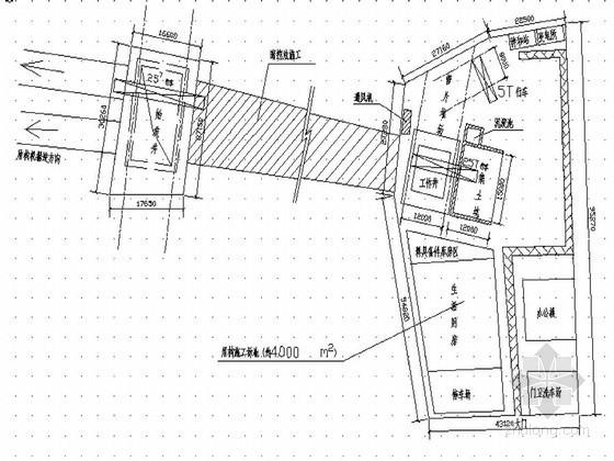 地铁区间盾构始发井和工作井平面示意图